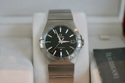 Omega Constellation Stainless Steel 35mm 123.10.35.60.01.001 All Papers Asnew