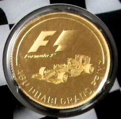 2016 Gold Abu Dhabi Grand Prix 1/4oz Proof Formula 1 Solomon Is. Official Coin