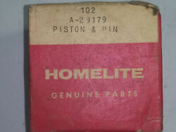 Vintage Homelite Chainsaw, 102, A-29179, Piston And Pin. New Old Stock.