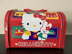 Vintage 1997 Hello Kitty Dome Metal Lunch Box