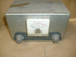 Heathkit Model Am-2 Reflected Power And Standing Wave Ratio Antenna Meter Swr