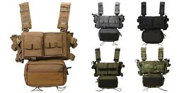 Mk3 Chest Rig Tactical Vest Micro Fight Modular Adjustable Hunting Plate Carrier