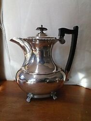 Vintage Silver Plated Coffee Pot On Four Claw Feet Made In Sheffield A1 Plate