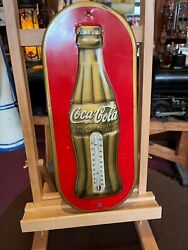 1936 Coca Cola Embossed 16 Thermometer Sign Watch Video