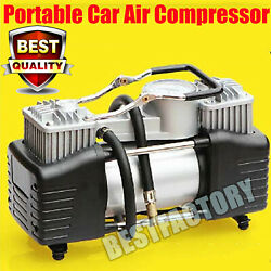Heavy Duty Portable Air Compressor Car Tyre Auto Tire Inflator Pump 150psi Dc12v