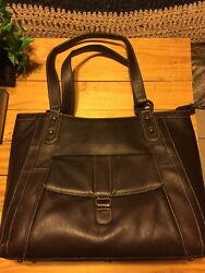Franklin Covey By Heritage Travelware Brown Faux Leather Briefcase For Laptop