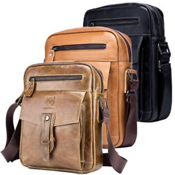 Genuine Leather Shoulder Bag for Men Man Purse Crossbody Bag for Work Business $39.90