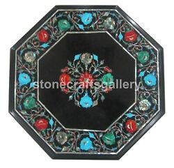 18 Marble Center Coffee Table Top Multi Stone Floral Inlay Living Decorate B160