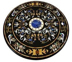 48 Marble Dining Table Tops Lapis Floral And Birds Inlay Interior Art Decor B219b
