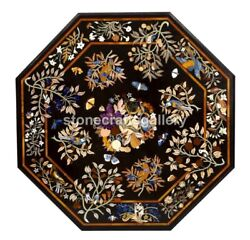 4and039 Marble Dining Table Top Multi Floral And Birds Inlay Art Restaurant Decor B228b