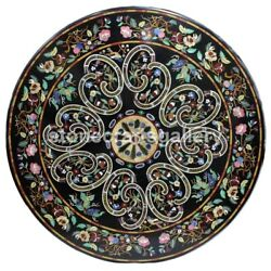 48 Round Marble Dining Table Top Multi Stone Floral Inlay Garden Art Decor B153