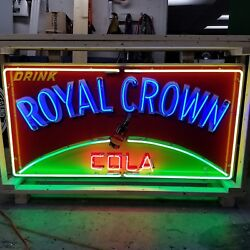 New Royal Crown Cola Neon Sign 58w X 34h - Neon Signs - Lifetime Warranty