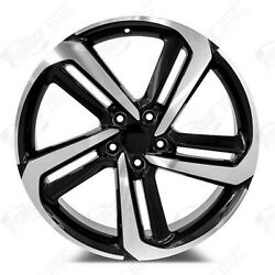 Black Machined Face 20x8.5 Et35 5x114 Accord Civic Cr-z Fit Ctx Set Of 4 Wheels