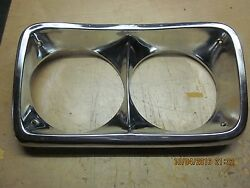 Chrome Plated Head Light Bezel Fits Gm Circa 70and039s
