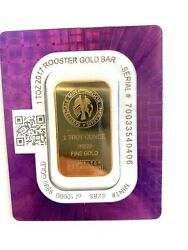 1 Troy Ounce 9999 Fine Gold Year Of The Rooster Bar