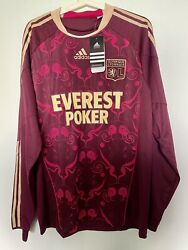 Bnwt Lyon 2010-11 Away Long Sleeve Player Issue Formotion Shirt Jersey Size L