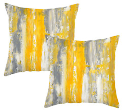 Yellow Pillows Decorative Throw Pillows Cover 18x18 Set of 2 Pillow Covers