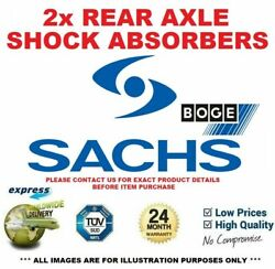 2x Sachs Boge Rear Axle Shock Absorbers For Vauxhall Astra 1.8 I 16v 2007-2010