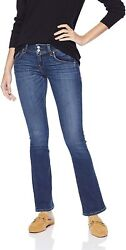 Hudson Womenand039s Petite Beth Mid Rise Baby Bootcut Flap Pocket Jean