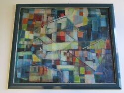 Best Vintage Expressionism Oil Painting Large Decoupage Abstract Cubist Cubist