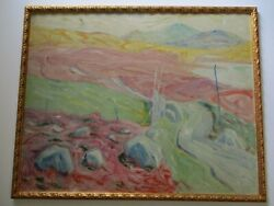 Large Landscape Oil Painting Expressionist Modernism Impressionism Mystery