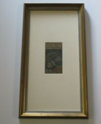 Vintage Antique Indian Manuscript Painting Mogul Bible Page Iconic Relic Old