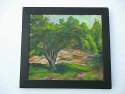 Antique Painting 1920's Listed American Plein Air Impressionism Landscape Rare