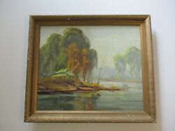 Vintage Antique Sam Hyde Harris Painting Early California Impressionist Home