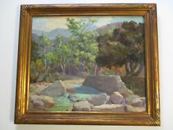 Howard Irwin Oil Painting Early California Impressionist River Landscape Antique