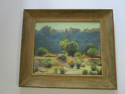 Antique Early California Plein Air Painting Sunset Mystery Artist Impressionism