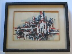 Georges Noel Bedard Painting 1950's Rare Abstract Expressionism Paris New York
