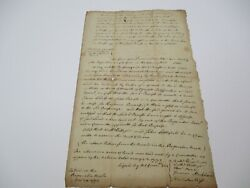 Antique Early American Wells Massachusetts Document Signed 1772 Acres Of Land