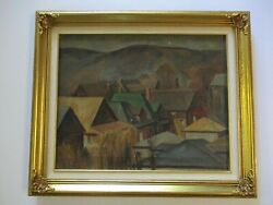 1930and039s Old American Painting Antique Vintage Regionalism Rare Landscape Wpa Era