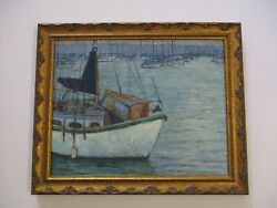 Kevin Yuen Painting Historic View San Diego California Landscape Harbor Nautical