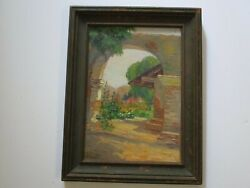 Antique Early California Painting Mission Impressionist Impressionism Mystery