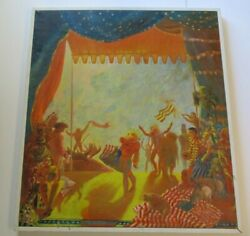 Large Whimsical Surrealism Painting Expressionism Modernism Festival Carnival