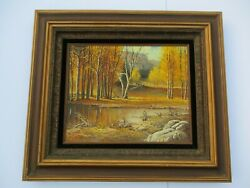 Finest Bill Shaddix Oil Painting Western Landscape Cowboy Horse Country Listed