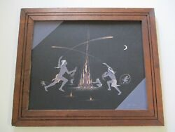 Finest Robert Chee Native American Indian Painting Tribal Camp Space Ceremony