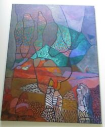 Philip North Painting Abstract Landscape Rare Colorful Modernism Expressionism