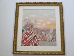 Vintage Retro Circus Painting Original Illustration For Carnival Side Show