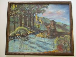Long Live Don Burgess Oil Painting California Impressionist American Indian Rare