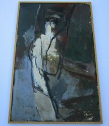 Jean-louis Kolb Large Vintage Painting Abstract Expressionism Non Objective