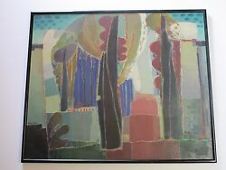 Mid Century Abstract Expressionism Painting Giant Size Non Objective Kenes Vntg