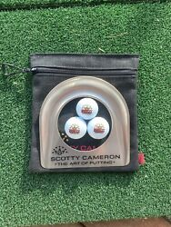 Scotty Cameron Putting Cup Kit - 7 Point Crown - Gold 2021 Mardi Gras +3 Pro V1s
