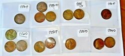 1930andrsquos Lincoln Wheat 1c Large Lot Low Circulation Coins Better Coins R38