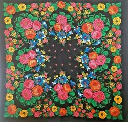 Large Head Scarf For Women.old.1960's Collectibles