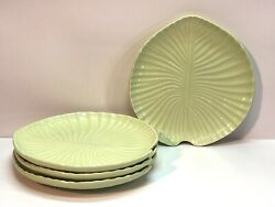 Olfaire Portugal Leaf Salad Plates Green Lily Pad Set Of 4