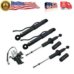 4pcs Shock Absorbers + Air Suspension Compressor Pump For Toyota Sequoia 949-359