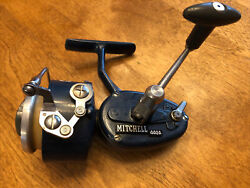 Super Nice Vintage Mitchell Blue 440a Spinning Reel Made France Smooth Action