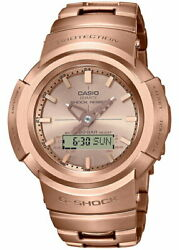 Casio G-shock Full Metal Awm-500gd-4ajf Menand039s Watch Solar Rose Gold New 2021